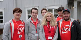 Fra venstre: Ivar Østby, Ådne Lillebudal Sandnes, Terje Østby, Alida Domaas, Åse Kjerstine Kjølberg Moen og Michael Sjøberg. Foto: Iver Waldahl LIllegjære.