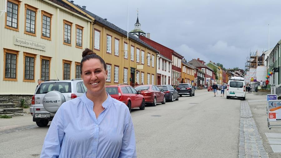 Leder for Røros Handelstand, Rikke Lolk Norvik. Foto: Tove Østby