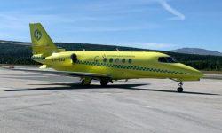 Babcock sin jet, C-680, reg. LN-SAA, i i forbindelse med ambulanseoppdrag. Foto: Gudbrand Rognes