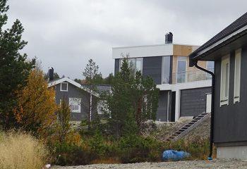 Nye hus kom opp i Gjøsvika i 2018, og i nesten alle flyttet det inn barnefamilier. Foto: Tore Østby