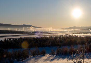 Røros fra Sundbakken på årets kaldeste dag. Foto: Iver Waldahl Lillegjære