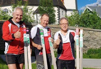 Stolpeutsetterne fra Røros IL – Orientering: Terje Schjølberg, Frode Sjøvold og Petter Gullikstad. Foto: Privat