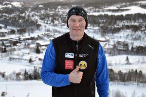 Trond Wilhelm Lund i bakken på Tolga. Foto: Tove Østby